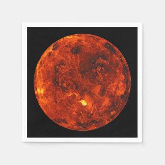 The Planet Venus Paper Napkins