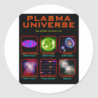 The Plasma Universe Round Sticker