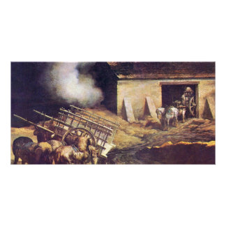 The Plaster Kiln, By Géricault Jean Louis Théodore Personalized Photo Card