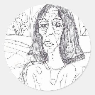 the plastic mom classic round sticker