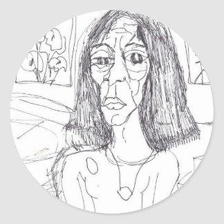 the plastic mom round sticker