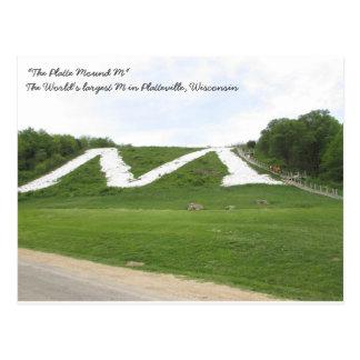 The Platte Mound M, Platteville Wi Postcard
