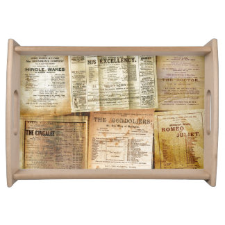 The Playbills Serving Tray