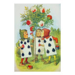 The Playing Cards Painting the Roses Full Colour Poster