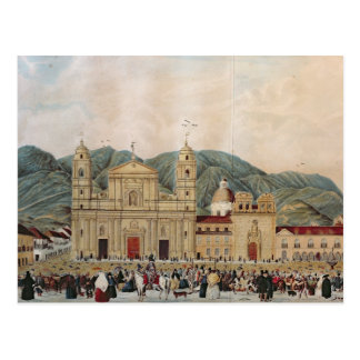 The Plaza de Bolivar, Bogota, 1837 Postcard