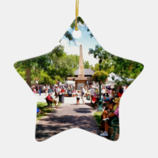 The Plaza Santa Fe New Mexico Ceramic Ornament