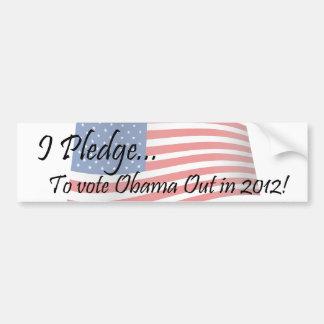 The Pledge - Obama Vote Bumper Sticker
