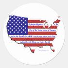 The Pledge of Allegiance Classic Round Sticker