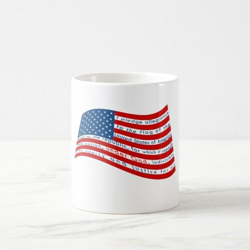 The Pledge of Allegiance Classic White Coffee Mug