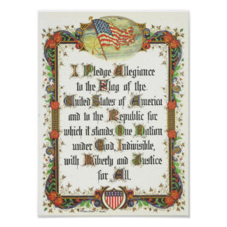 The Pledge of Allegiance of the United States Poster