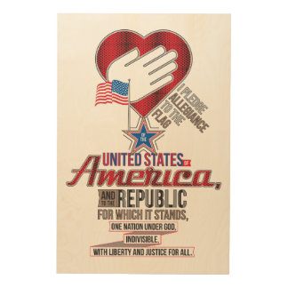The Pledge of Allegiance Wood Print