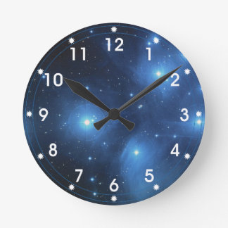 The Pleiades star cluster Round Clock