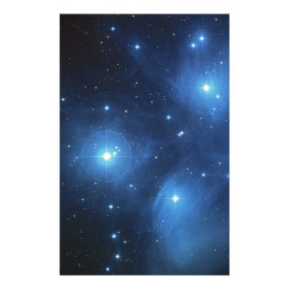 The Pleiades star cluster Stationery