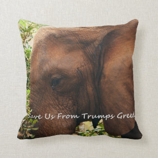 The Plight Of The Elephants. Throw Pillow