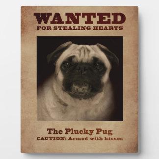The Plucky Pug Plaque