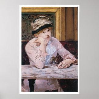 The Plum, 1878 Edouard Manet Poster