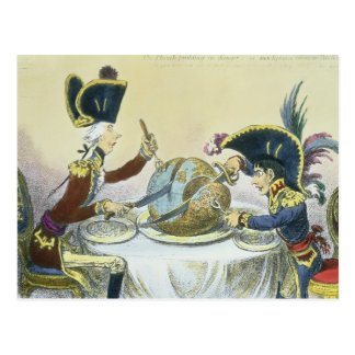 The Plum Pudding in Danger, 1805 Postcard