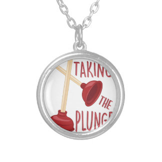 The Plunge Silver Plated Necklace