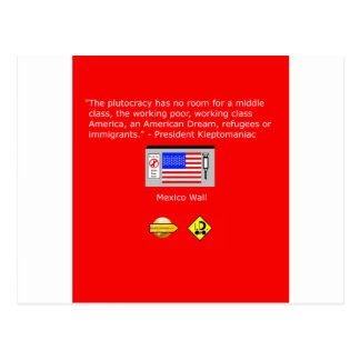 The Plutocracy in America Postcard