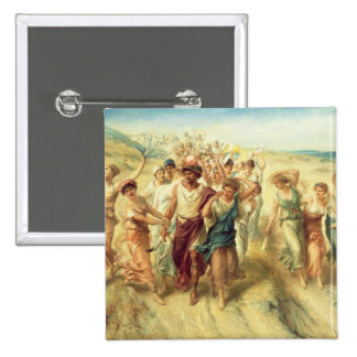 The Poet Anacreon (570-485 BC) with his Muses, 189 2 Inch Square Button