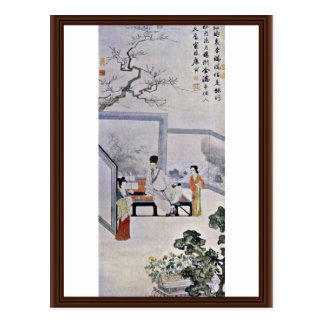 """The Poet And Two Courtesans, By T'Ang Yin,?""""?¯… Postcard"""