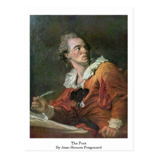 The Poet By Jean-Honore Fragonard Postcard