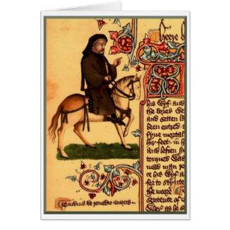 The Poet Chaucer, Ellesmere Manuscript, circa 1410 Card