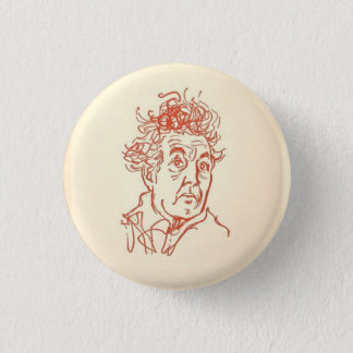 The Poet Robert Graves 1 Inch Round Button