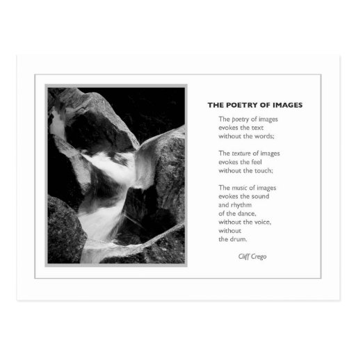 THE POETRY OF IMAGES POST CARD