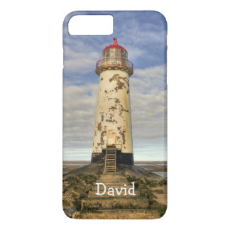 The Point of Ayr Lighthouse Wales Personalized iPhone 8 Plus/7 Plus Case