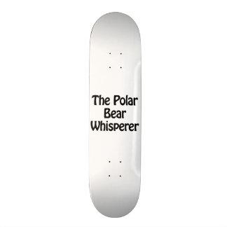 the polar bear whisperer skate board deck