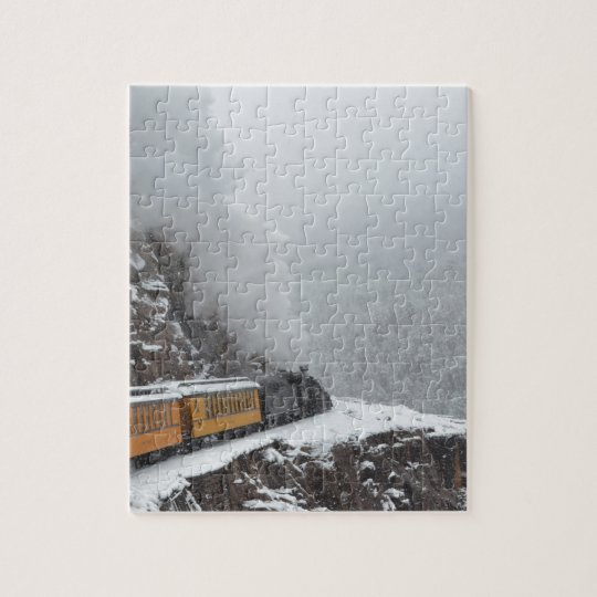 The Polar Express Rounds the Bend Jigsaw Puzzle