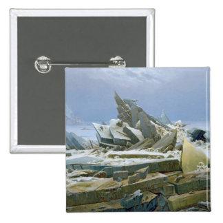 The Polar Sea, 1824 2 Inch Square Button