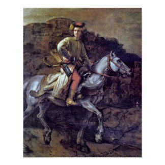 The Polish Rider by Rembrandt Harmenszoon van Rijn Poster