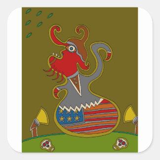 The Politician Square Sticker