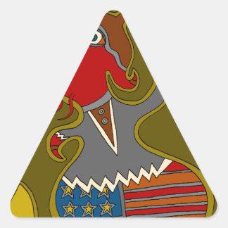 The Politician Triangle Sticker
