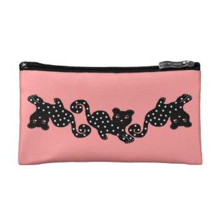 The Polka Dot Cat Cosmetic Bag