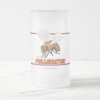 The Pollenator... Frosted Glass Beer Mug