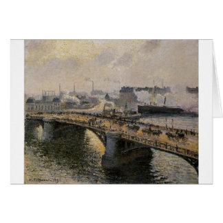 The Pont Boieldieu, Rouen, Sunset, Misty Weather Card