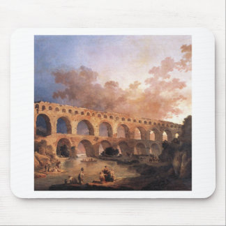 The Pont du Gard by Hubert Robert Mouse Pad