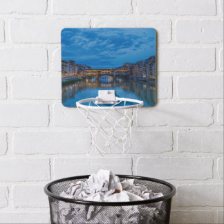 The Ponte Vecchio in Florence Mini Basketball Hoop