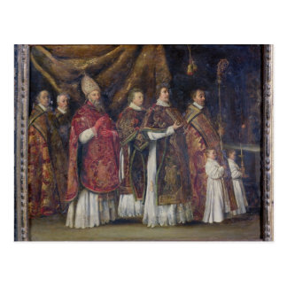 The Pontifical Mass or, The Procession Postcard