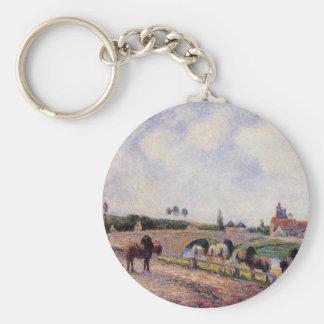 The Pontoise Bridge by Camille Pissarro Keychain