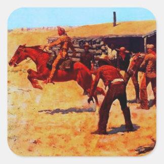 The Pony Express Square Sticker
