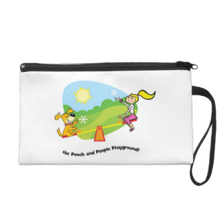 The Pooch and People Playground Bagettes Bag Wristlet Purse