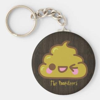 The Poopiteers - Cutey Poo Basic Round Button Keychain