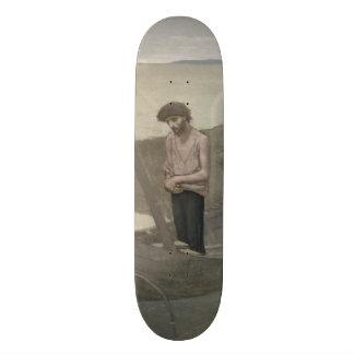 The Poor Fisherman by Puvis de Chavannes Custom Skate Board
