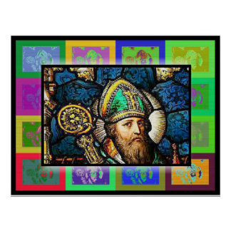 The Pop Art Saint Patrick Poster