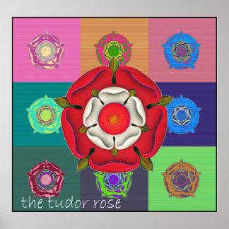 The Pop Art Tudor Rose Poster