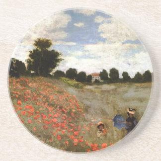 The Poppy Field near Argenteuil by Claude Monet Coaster